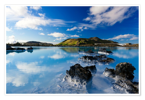 Poster Blue Lagoon in Iceland