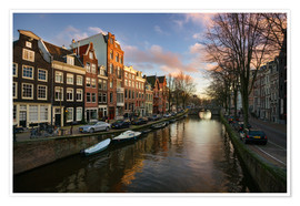 Poster Amsterdam in the evening light