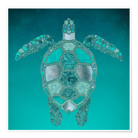 Poster  Tortue sirène - Andrea Haase