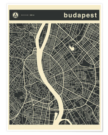 Poster Budapest City Map