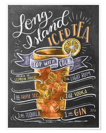 Poster  Rectte du Long Island Ice Tea (anglais) - Lily & Val