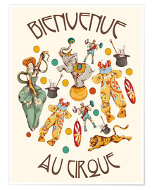Poster  Bienvenue au cirque - Kidz Collection