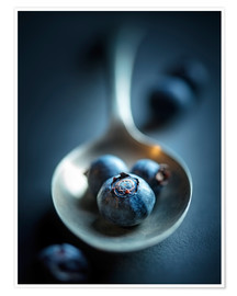 Poster Blueberry Macro Still Life