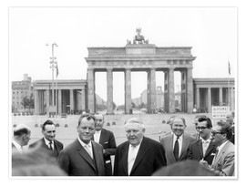 Poster  Ludwig Erhard and Willy Brandt