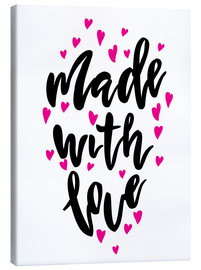Tableau sur toile  Made with love - Typobox