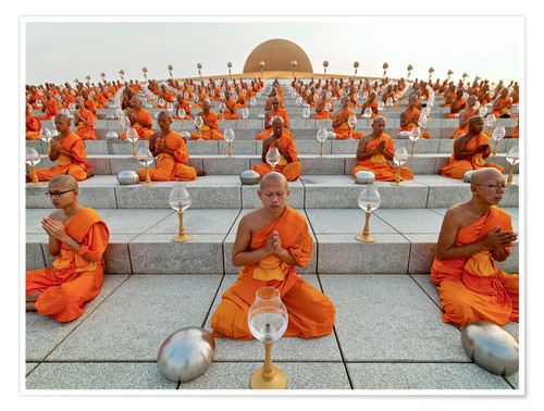 Poster Wat Phra Dhammakaya temple on Makha Bucha Day