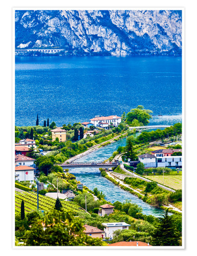 Poster View of Lake Garda in Northern Italy