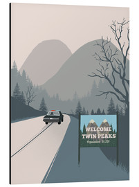 Tableau en aluminium  Welcome to Twin Peaks - 2ToastDesign