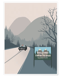 Poster  Welcome to Twin Peaks - 2ToastDesign