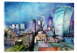 Tableau en verre acrylique  London, The Walkie Talkie - Johann Pickl
