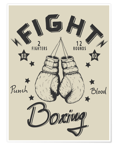 Poster Fight Boxing