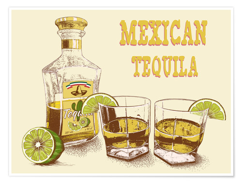Poster Tequila mexicaine