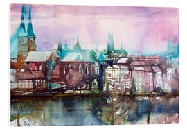 Tableau en PVC  Lübeck, view from the millpond - Johann Pickl