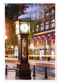 Poster Steam clock in Gastown, Vancouver, Canada
