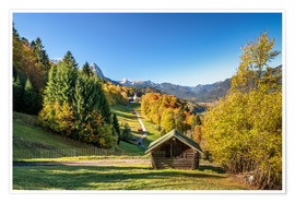 Poster Autumn in Upper Bavaria