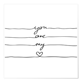 Poster  You are my heart - Mareike Böhmer