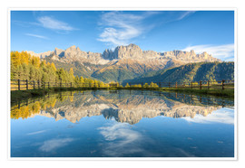 Poster Rosengarten, Dolomites in South Tyrol