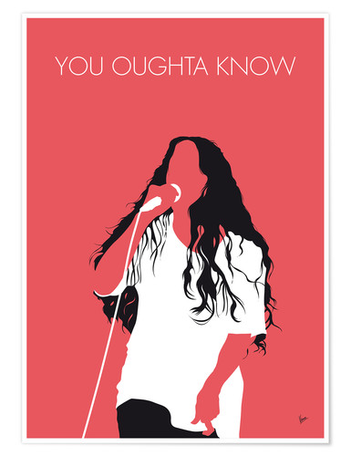 Poster Alanis Morissette, You Oughta Know