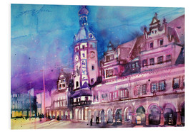 Tableau en PVC  Leipzig, Old Town Hall - Johann Pickl