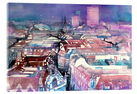 Tableau en verre acrylique  Leipzig, view from the Thomas Church - Johann Pickl