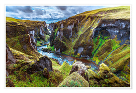 Poster Incredible volcanic Canyon on Iceland