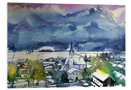 Tableau en PVC  Pinzgau, first snow in Piesendorf - Johann Pickl