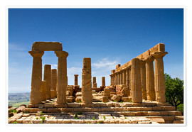 Poster Temple of Juno, Agrigento, Sicily