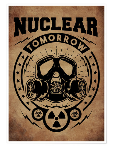 Poster Nuclear tomorrow vintage