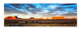 Poster Monument Valley panorama