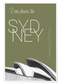 Poster Popart Sydney Opera I have been to Color: Calliste Green