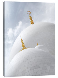 Tableau sur toile  white cupolas of sheikh zayed mosque