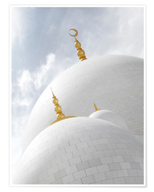 Poster  white cupolas of sheikh zayed mosque