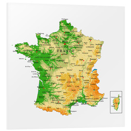 Tableau en PVC  Carte de la France