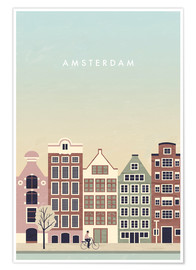 Poster Illustration Amsterdam
