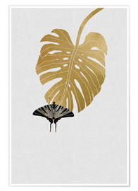 Poster  Papillon et Monstera - Orara Studio