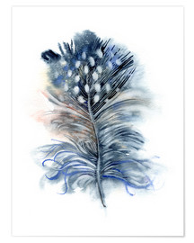 Poster  Plume bleue - Verbrugge Watercolor