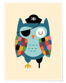 Poster  Capitaine Hibou - Andy Westface