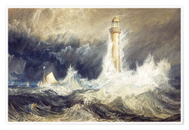 Poster  Phare de Bell Rock - Joseph Mallord William Turner