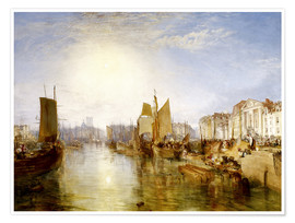 Poster  Le port de Dieppe - Joseph Mallord William Turner
