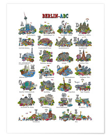 Poster  Berlin abc - Cartoon City