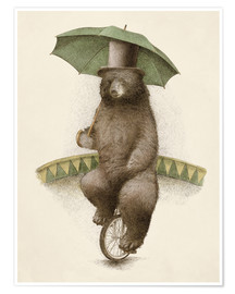 Poster  Fred l'ours acrobate - Eric Fan