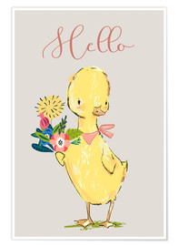 Poster  Hello petit canard - Kidz Collection