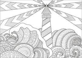 Poster à colorier  Phare
