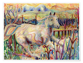 Poster  My Soul is an Escaped Horse - Josh Byer