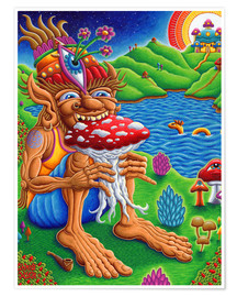 Poster  Muncher Of Mushroomland - Chris Dyer