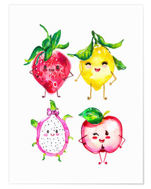Poster Fruits coquins
