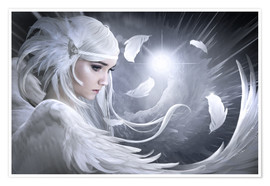 Poster  Plumes blanches - Elena Dudina