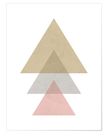 Poster Triangle rose
