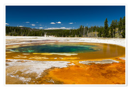 Poster Beauty Pool, parc national de Yellowstone