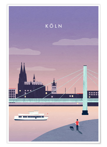 Poster Illustration Köln, Cologne